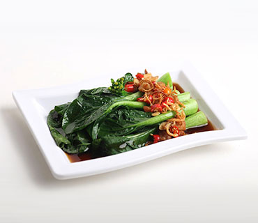 Choy Sim with Oyster Sauce
